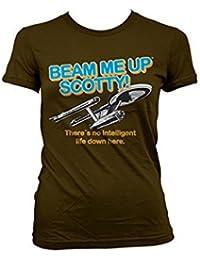 Officially Licensed Merchandise Star Trek - Beam Me Up Scotty Girly T-Shirt