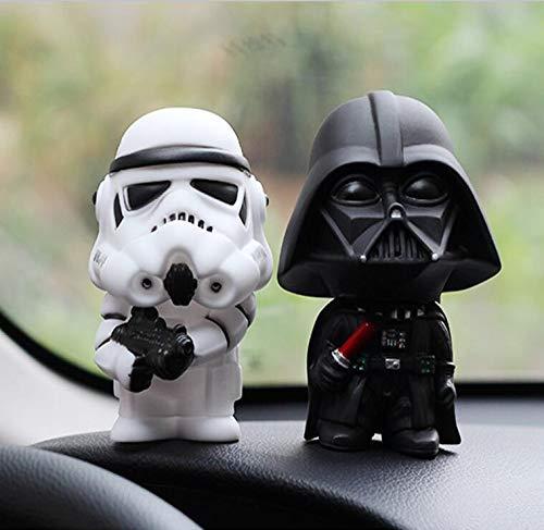 2 Pezzi Decorazione Auto Star Wars Agitare la Testa Action Figure Doll Car Interior Accessori Auto Ornamento Car Styling R
