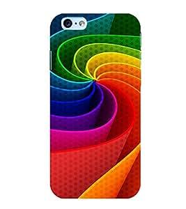 colourful elliptical pattern 3D Hard Polycarbonate Designer Back Case Cover for Apple iPhone SE