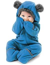 Funzies Fleece Baby Romper Jumpsuit - Infant Pyjamas Winter Dungarees Outfit