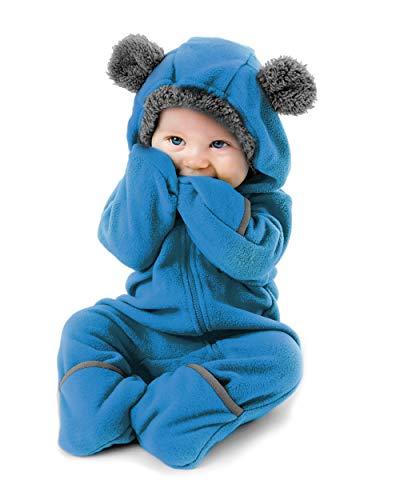 Cuddle Club Surpyjama en Polaire Bébé - du Nourrisson à 4 Ans - Pyjama Fille et Garçon et Couverture Bébé ou Nid d'Ange en Un ! - BearBlue2T