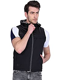 Versatyl Men's Reversible Sleeveless Jacket With 11 Pockets & RFID Protection ( World 1st Sleevelees Jacket With RFID Protection ) ( Black )