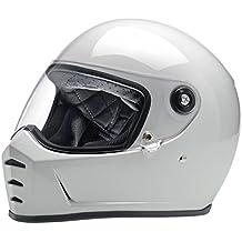 Casco Helmet integral Biltwell Lane divisor approvazione Dot y homologado ECE Europa Italia Gloss White blanco brillante similar Gringo New Retro Epoca Café ...