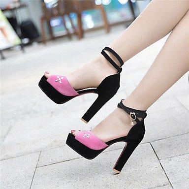 LvYuan Da donna Sandali Comoda Cinturino alla caviglia Suole leggere Finta pelle Estate Formale Serata e festaComoda Cinturino alla caviglia blushing pink