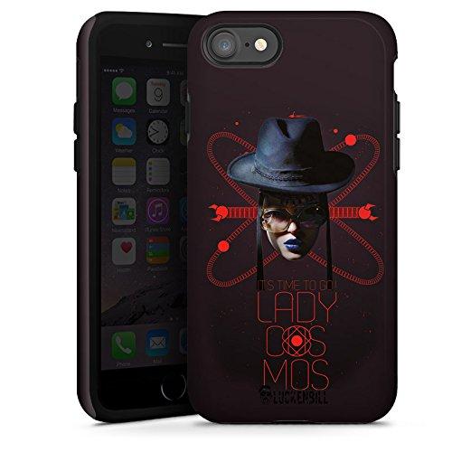 Apple iPhone X Silikon Hülle Case Schutzhülle Frau Hut Lippenstift Tough Case glänzend