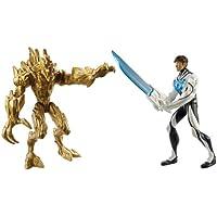 Max Steel - Pack de figuras de acción, Turboluchadores, Turbo Sword Max Steel vs. Elementor Erde (Mattel Y1408)