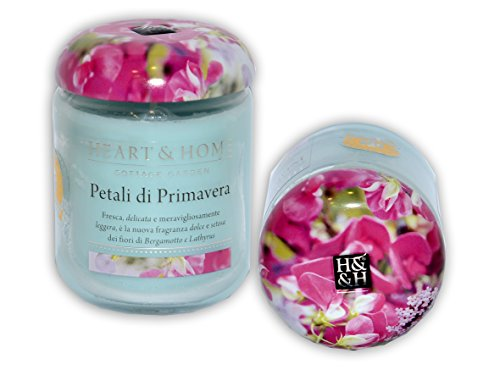 Heart & Home 'Kerze Florever Duft Garten des Cottage Petals von Frühling