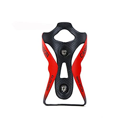 Elita eine Carbon Flasche Käfig Fahrrad Flasche Holder 3K Glänzend/Matt Käfig Fahrrad Zubehör Radfahren Flasche Flaschen Wasser Ultra Light, Red Matte