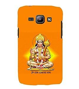 PrintVisa Designer Back Case Cover for Samsung Galaxy J1 (2015) :: Samsung Galaxy J1 4G (2015) :: Samsung Galaxy J1 4G Duos :: Samsung Galaxy J1 J100F J100Fn J100H J100H/Dd J100H/Ds J100M J100Mu (Anjaneya Bhakthavatsala Bajrangbali Chiranjeevi Chaturbahu Chaturbhuj Denabandhav )
