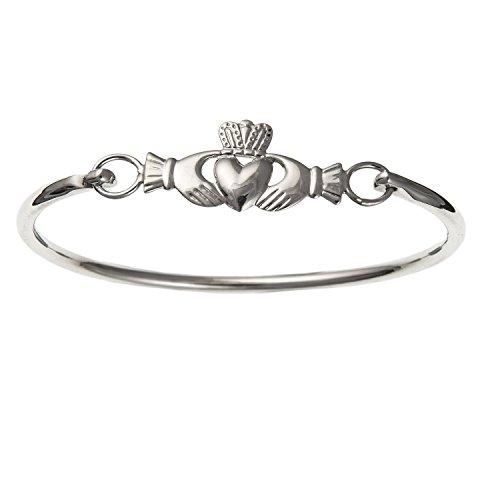 Irisch keltische Claddagh Armreif Armband–925Sterling Silber, Lieferung erfolgt in Geschenkbox oder Geschenkbeutel Irische Armbänder Für Frauen