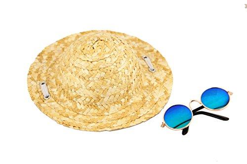 Set di cappelli e occhiali da sole per cani,costumi per halloween, cappelli di paglia in stile hawaii e fattoria, occhiali da sole, copricapi, oggetti di scena, articoli da viaggio per animali.