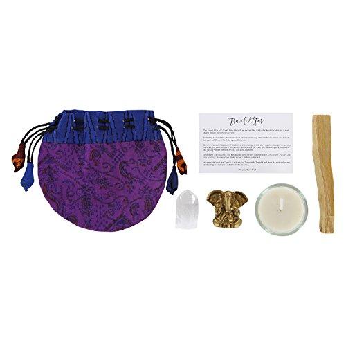 Preisvergleich Produktbild Reise Altar mit Ganesha,  Palo Santo & Bergkristall / Travel Altar / Yoga Geschenk / Yogageschenke / Yoga Altar zum Verreisen