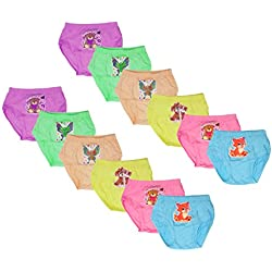 LUXCY Girls' Panties - Pack of 12 (MRB2GIPRJPKIDDO(2-3)12-$P, Multi-Coloured, 2-3 Years)