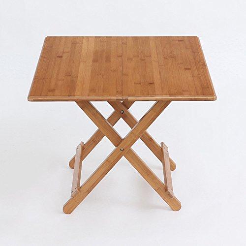 ZHIRONG Tableau portatif se pliant d'étude d'arts de bambou de Tableau carré, table extérieure de Tableau de pique-nique d'enfants (taille : 60 * 60 * 50CM)