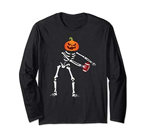 Flossing Skeleton Funny Football Lover Floss Dance Langarmshirt