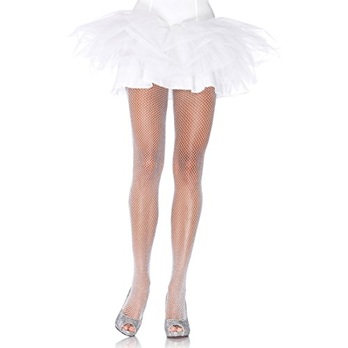 PANTIES LEG AVENUE NETWORK INDUSTRIAL STYLE WHITE-SILVER GLITTER -