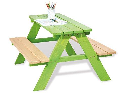 Kinder Picknicktisch Holz Grün