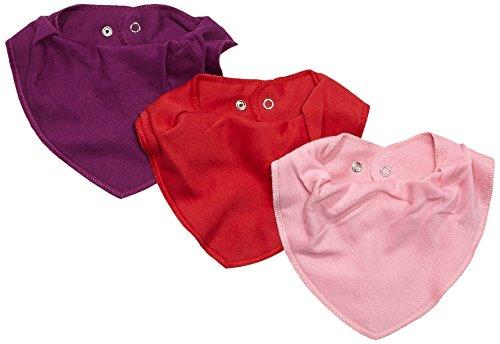Brands 4 Kids A/S Care Baby Halstücher im 3er oder 6er Pack, Einfarbig, Gr. One size, Rot (Red 410)