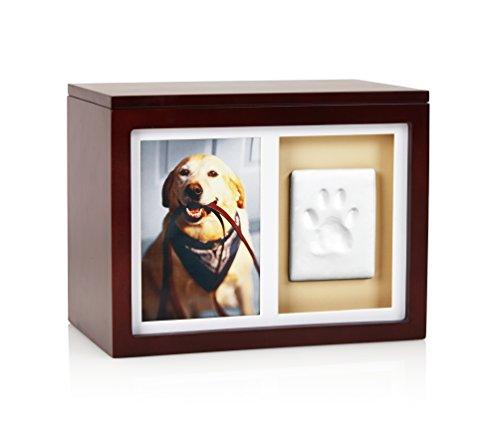 Pearhead Hund oder Katze Paw Prints Pet Memory Box mit Lehm Impressum Kit Gedenktafel für Haustiere, perfekt Espresso