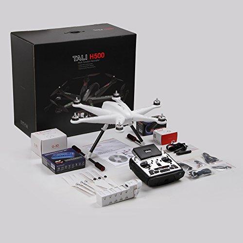 Walkera 25161 - Tali H500 Hexacopter FPV 3D Gimbal Devo12E mit HD Cam, weiß - 3