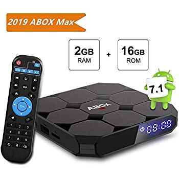 TV Box, A1 MAX TV Box Android 7.1[2G+16G], 4K Full HD Smart Player, Bluetooth 4.0/64 Bits/Quad Core per Smart TV/PC