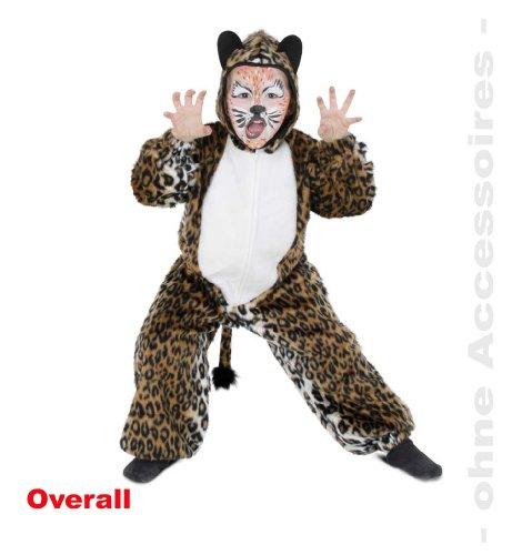 Leopard Tiger Overall Leo 1tlg. mit Kapuze 98