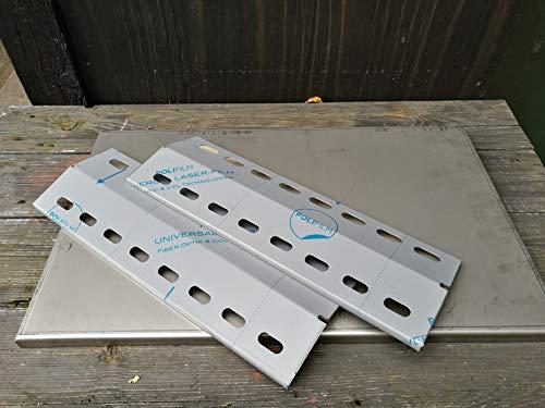 Flammenverteiler Edelstahl-Manufaktur Ersatz-Set: (435mm x 150mm - 3 Stück) Flammenblech/Grillblech...