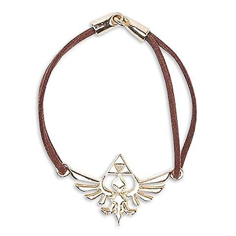 Zelda Skyward Sword Hyrule Bracelet Gold Brown