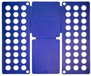 Monsterzeug Falter für Wäsche, T-Shirt Falter, Wäsche Faltbrett, Kleidung falten leicht gemacht, Falthilfe Blau, 59 x 23 cm