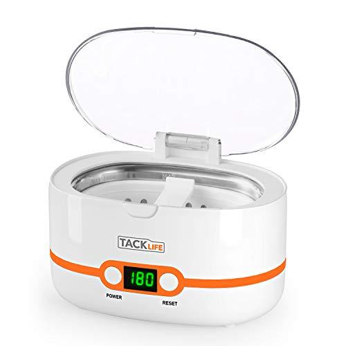 Ultraschallreiniger, Tacklife MUC02 Professioneller Reinigungsgerät 600ml Haushalts-Ultraschall-Reinigungsmaschine mit 5 Zeiteinstellungen für die Reinigung von Brillen, Uhren, Schmuck, Münzen, Utensilien