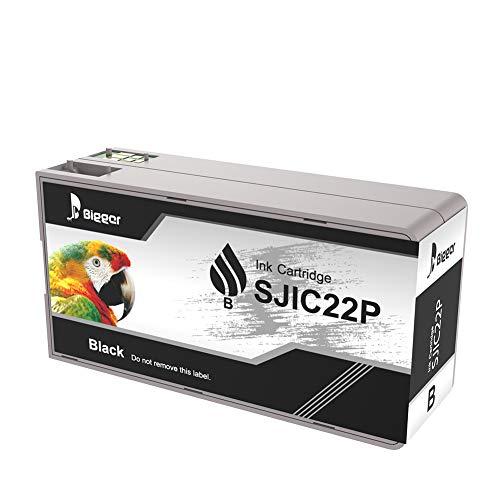 Ricambio più grande per Epson Tm-c3500 cartucce d'inchiostro SJIC22P (K) nero compatibile con Epson Color Works C3500 Pigment Colour Serial Label Inkjet Printer (1nero)
