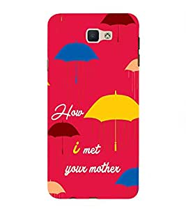 Fabcase red theme raining umberella series hollywood how I met your mother Designer Back Case Cover for Samsung Galaxy J7 Prime (2016)