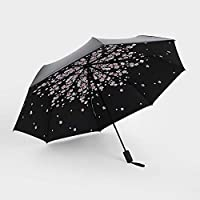 GANXIA HOME Black plastic umbrella creative 30% sunscreen black plastic umbrella UV sunscreen rain dual-use black plastic umbrella