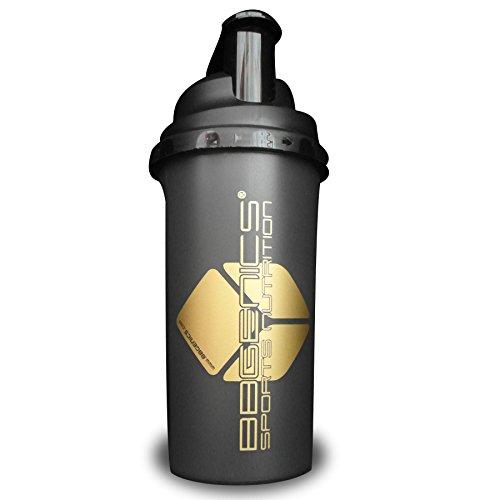 Protein, Albume, Shaker con tappo a vite e filtro, oro nero