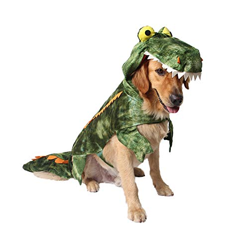 XIYAO Haustier Kleidung, Hunde Kleidung Halloween Krokodil Transformiertes Kleid Cosplay Kostüme
