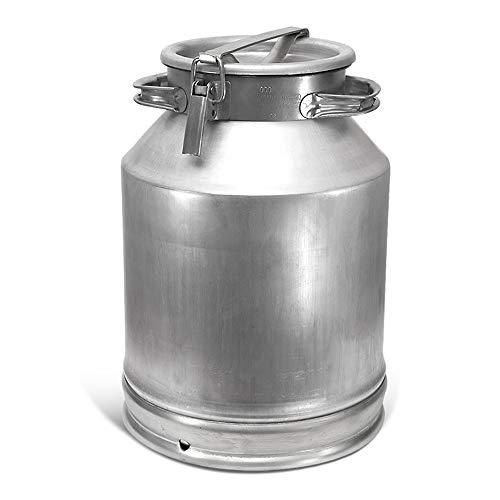posylka.de Aluflasche Milchkanne Alufass Aluminium Behälter Fass Kanne Bidon Fljaga (40 Liter)