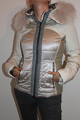 Sportalm Kitzbühel Damen Effex Ski Winter Jacke mit Echt Fell Beige Größe S, M,L (38)