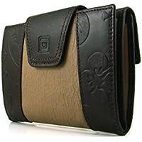 Frauen-Brieftasche, Handwerklich , casanova Marke, gemacht aus Haut, Ref. 22814 Braun