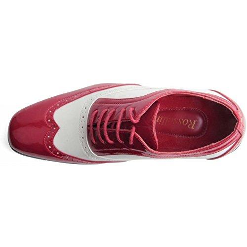 Rossellini  Borsalino, Chaussures de ville à lacets pour homme rouge/blanc