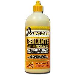 X-Sauce A8487325000120 Sellante Anti Pinchazos para Tubeless, Amarillo, 500ml