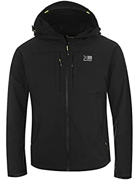 Chaqueta alpinista softshell Karrimor con capucha para hombre- Chaqueta forrada con ventilación, capucha y bolsillos.
