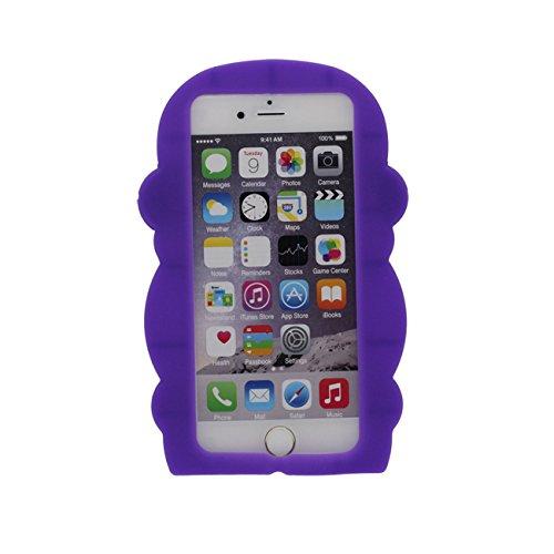 Singe Forme Série Silicone Gel [ Surface Lisse ] Super Doux Cartoon Animal Coque Housse de Protection Case pour Apple iPhone 6 / iPhone 6S 4.7 inch pourpre