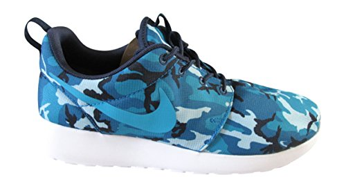 Nike Roshe One Print, chaussures de course homme mid navy blue lagoon dark electric blue white 441