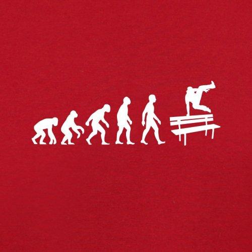 Herren T-Shirt - Evolution of Man - Parkour Freerunning - 10 Farben Rot