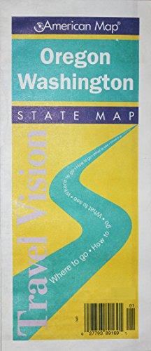 Oregon Washington: Road Map (Travelvision State Maps)