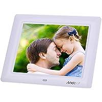 Andoer 8 '' HD TFT-LCD Digitali Foto Cornice Orologio MP3 MP4 Movie Player con Remote Desktop