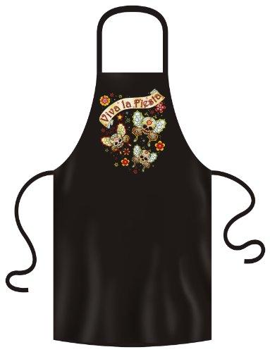 Grill & Kochschürze mit dem Mexika Stuff Motiv: Viva la fiesta buttfly von van Petersen Shirts - Fiesta-grill-grills