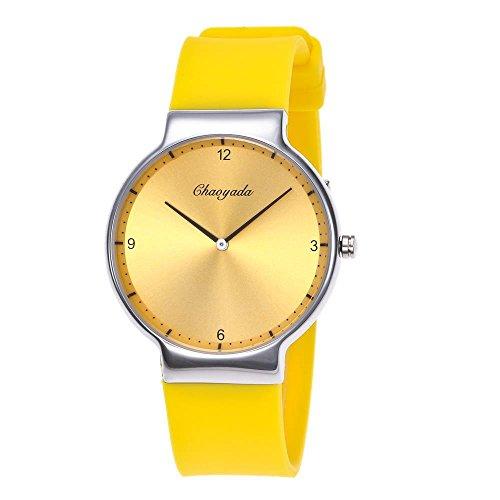 DAZHE Militäruhren Quarz Armbanduhren, Neue Paar Uhr ultradünne Sonnenbrille Uhr wasserdichte Quarzuhr (Color : 7)