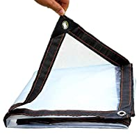 ER-JI Transparent Tarpaulin, Sunscreen And Rainproof PE Tarpaulin, Non-Aging, Tear Resistant, Cold Resistant, Durable Waterproof Tarpaulin (Size: 2M × 3M),2X3m