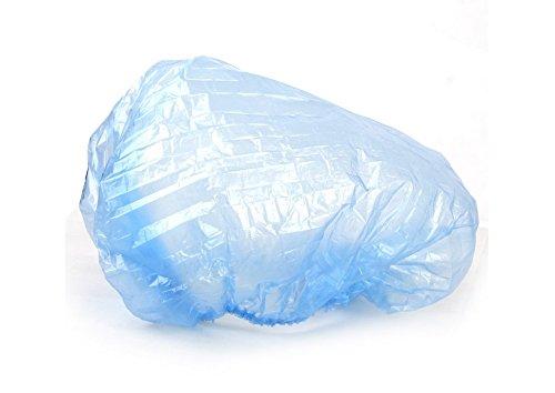 Productos básicos y accesorios de limpieza aproximadamente. 100pcs gorro de ducha impermeable desechable (azul)